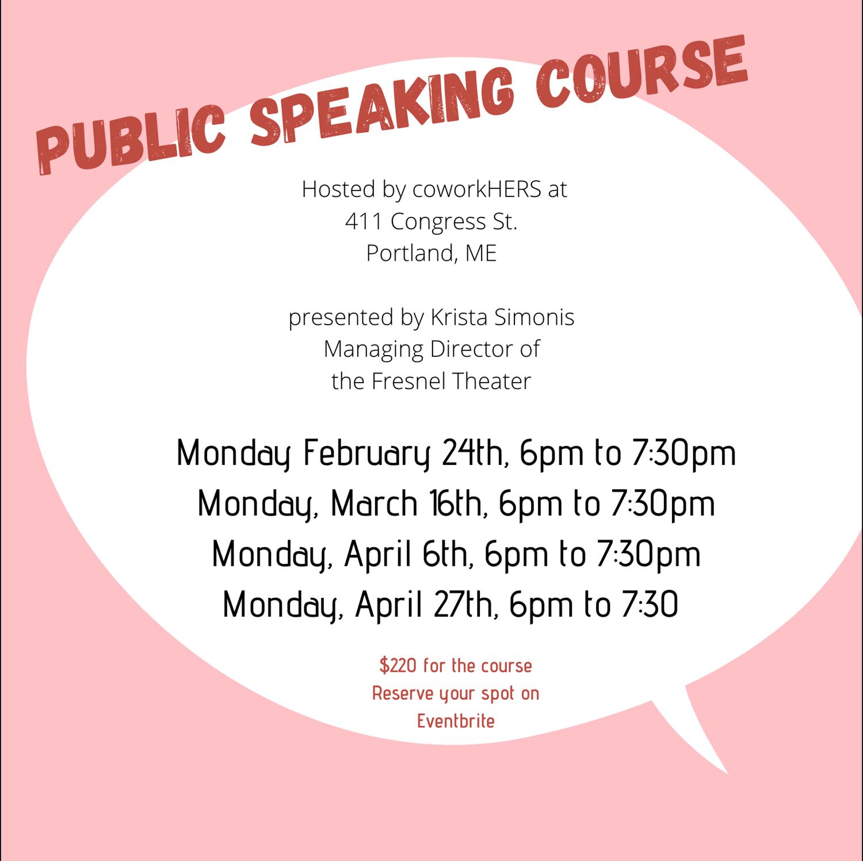 Public Speaking Skills for Women