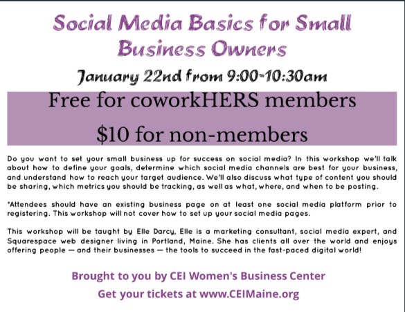 coworkHERS - Social Media Basics for your Small Business